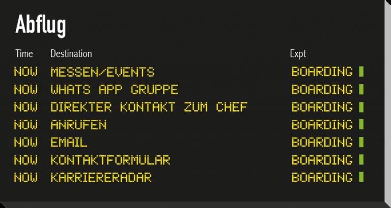 Flugtafel-Abflug-Kontakt zur infologistix GmbH